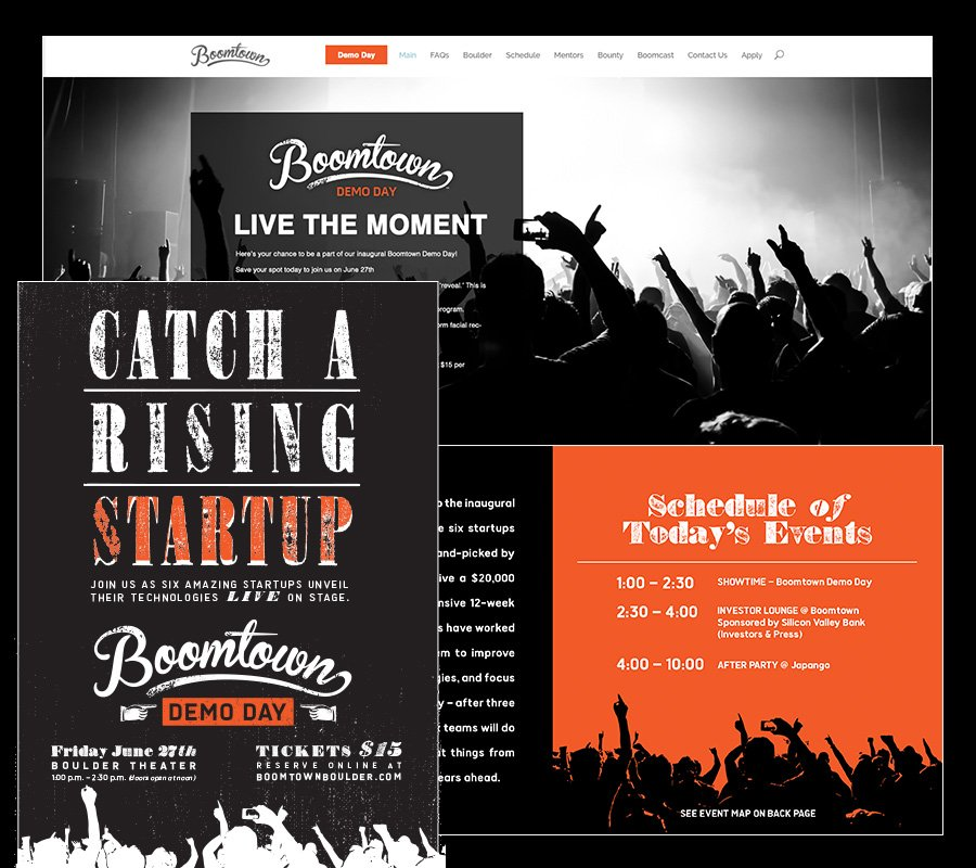 examples of design work for boomtown